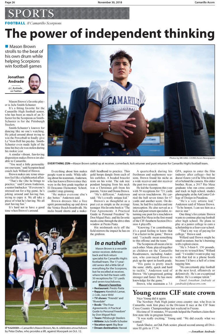 Article in the Camarillo Acorn at the end of the season.