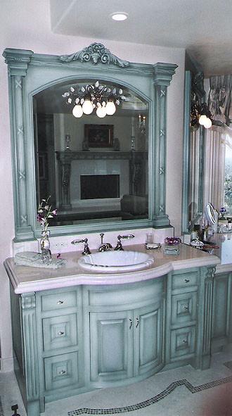 Master Bath cabinetry & mirror surround