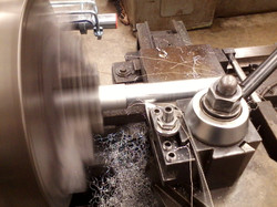 Making a drive shaft for our new robot on the lathe 2