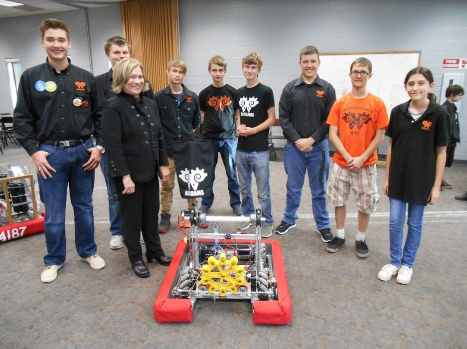 RoboRams and Superintendent Holt
