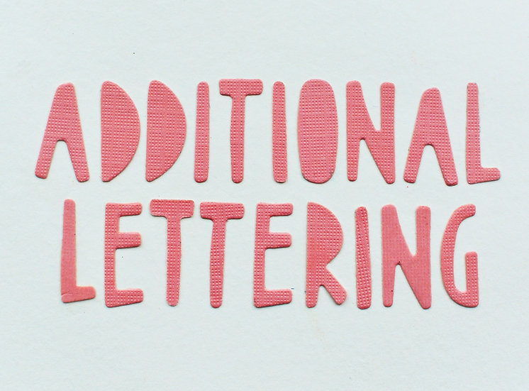 Additional Lettering
