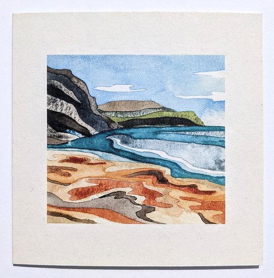 Trevellas Cove Art Print Card