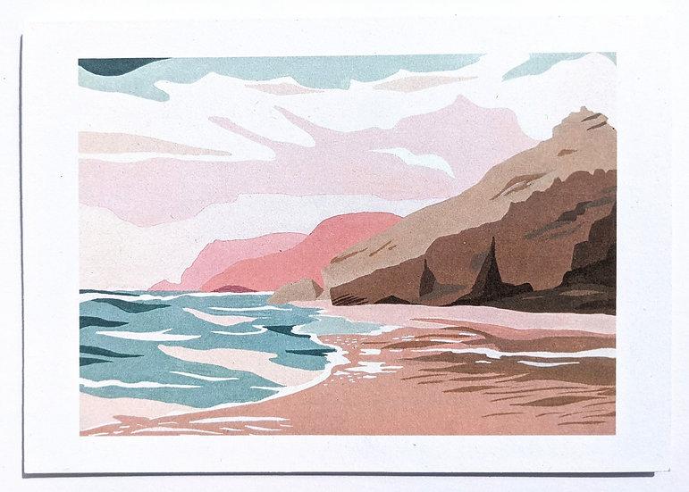 Chapel Porth Art Print Card