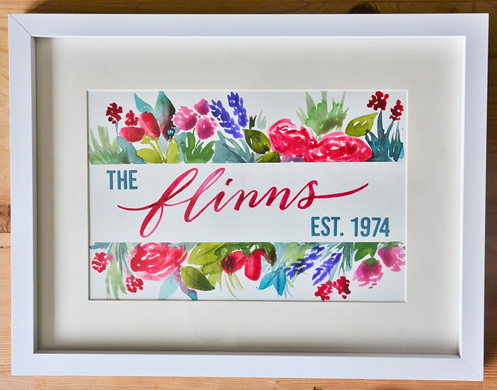 Floral Border with Extras - Deep Pink