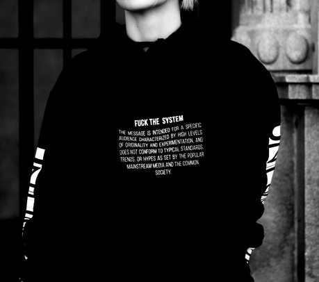 Fuck the system hoodie // available 02/10