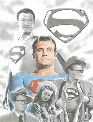 Superman George Reeves Illustration