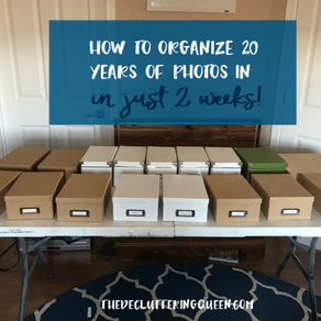 20 Years of Photos Organized in Just 2 Weeks – Guest Post by Jessica Stickel, Inspired Freedom Coach