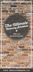 The Ultimate Cleaning Schedule