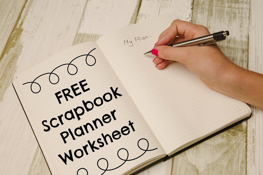 FREE Scrapbook Planner Worksheet