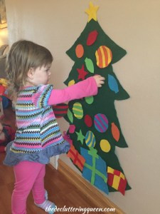 Child Playing with Felt Christmas Tree