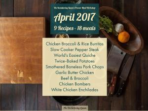 9 recipes - 18 freezer meals - 3 hours