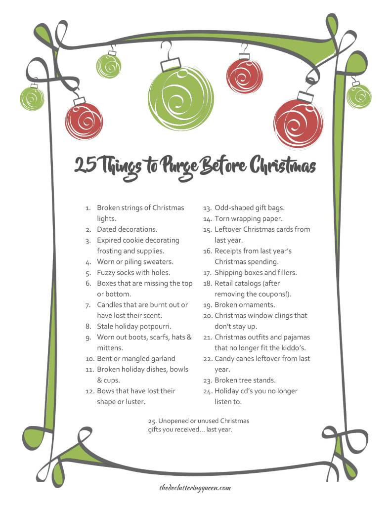 25 Things to Purge Before Christmas