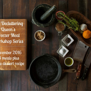The Decluttering Queen's Freezer Meal Workshop Series – November 2016