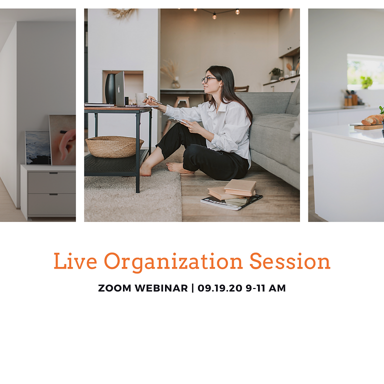 Live Organization Session              September 2020