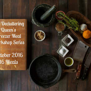 The Decluttering Queen's Freezer Meal Workshop Series – October 2016