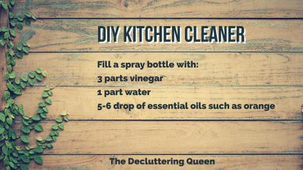 The Easiest DIY Kitchen Cleaning Solution using vinegar and essential oils