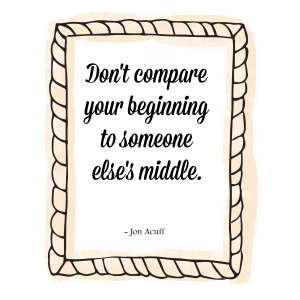 Learn how to stop comparing yourself to others