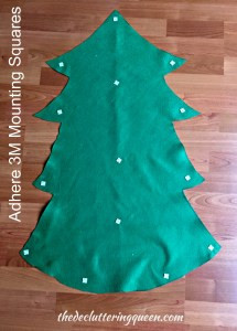 How to Mount Felt Christmas Tree