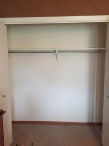 an emptied closet