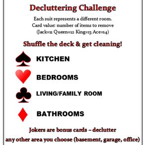 52 Card Pickup Game – Decluttering Challenge