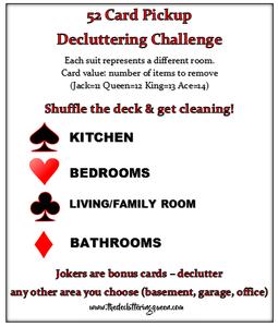 Decluttering Challenge 52 Card Pickup