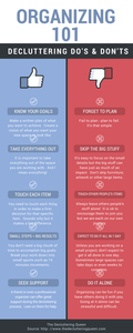 Organizing 101: The Do's & Don't of Decluttering