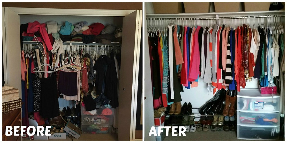 Before and After Pictures of Closet