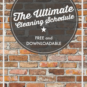 A Monthly/Quarterly/Yearly Cleaning Printable – Free Download