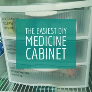 An easy, afforable solution to organizing your medicine cabinet