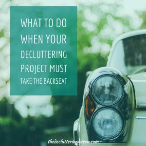 Decluttering Project Takes Backseat