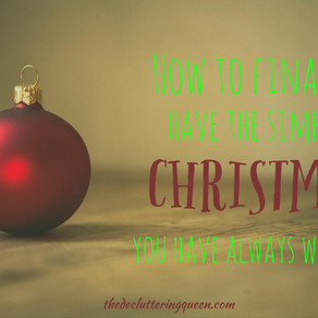 How to finally have the Simple Christmas You've Always Wanted
