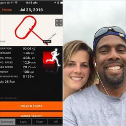 Me and KM - Jul 25 Run