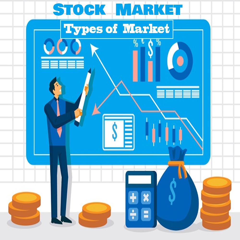 Image describe about different types of stock Market