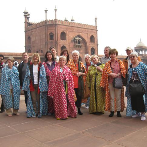 Besuch in der Großen Moschee in Delhi