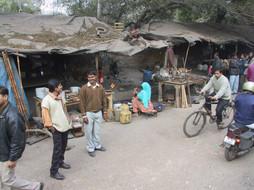 Straßenszene in Delhi