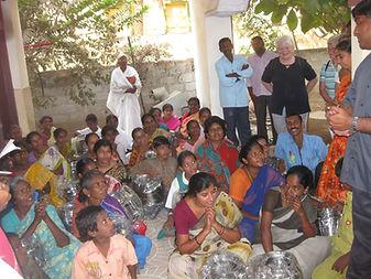 Wir mit Father Allam in Guntur