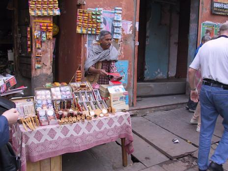 Straßenhändler in Jaipur