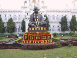 Gandhi Denkmal in Hyderabad