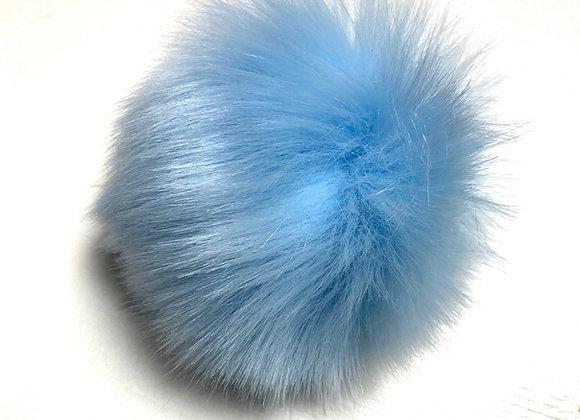 Dusk i fuskepels - babyblå