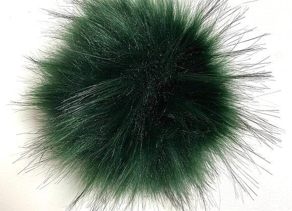 Stor dusk i fuskepels - grønn
