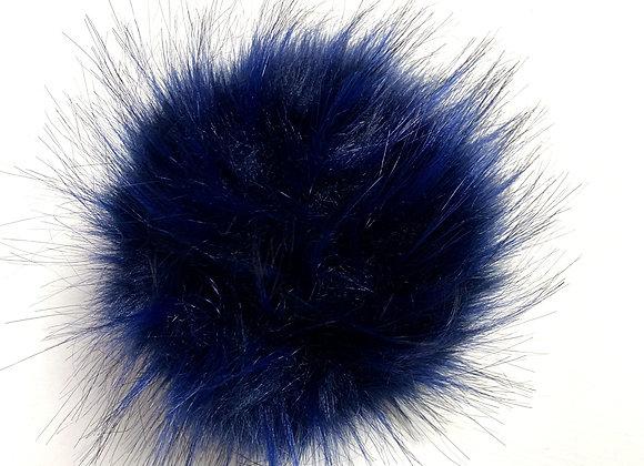 Stor dusk i fuskepels - mørkeblå