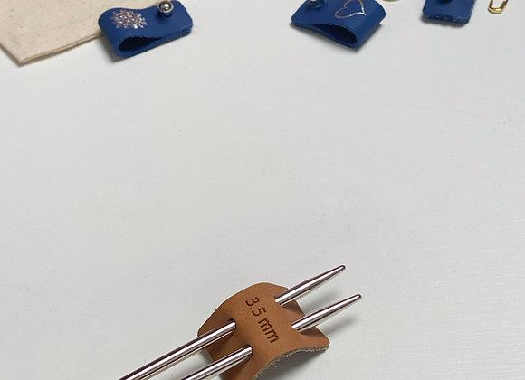 Pinnestopper i skinn 3,5mm