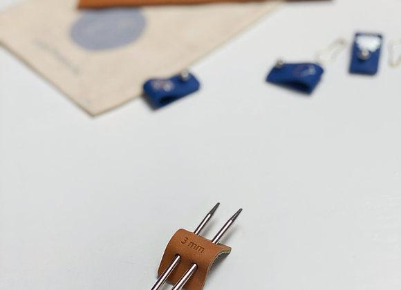 Pinnestopper i skinn 3mm