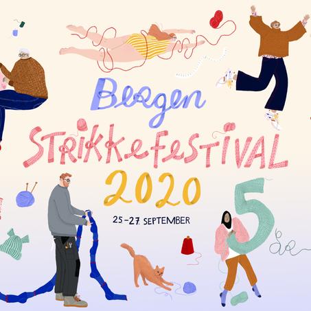 Kurs i flettestrikk under Bergen Strikkefestival