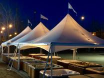 20x50 Sailcloth Top Frame Tent