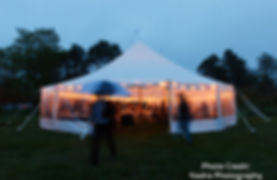 44x63 tidewater tent, sailcloth tent, rustic maine weddings, nautical wedings, tent rentals, wedding rentals, Live Well Farm