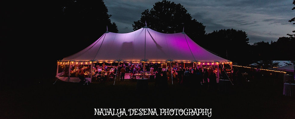 44x83 Tidewater Sailcloth Tent, Maine Wedding