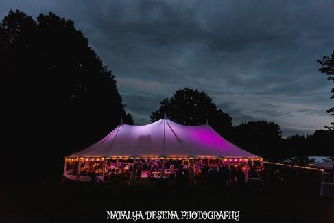 Shot by Natalya DeSena Photography of Coastal Maine Canopies Tent