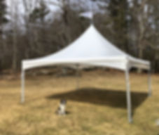 20x20 frame tent rental. maine commercial tent rental