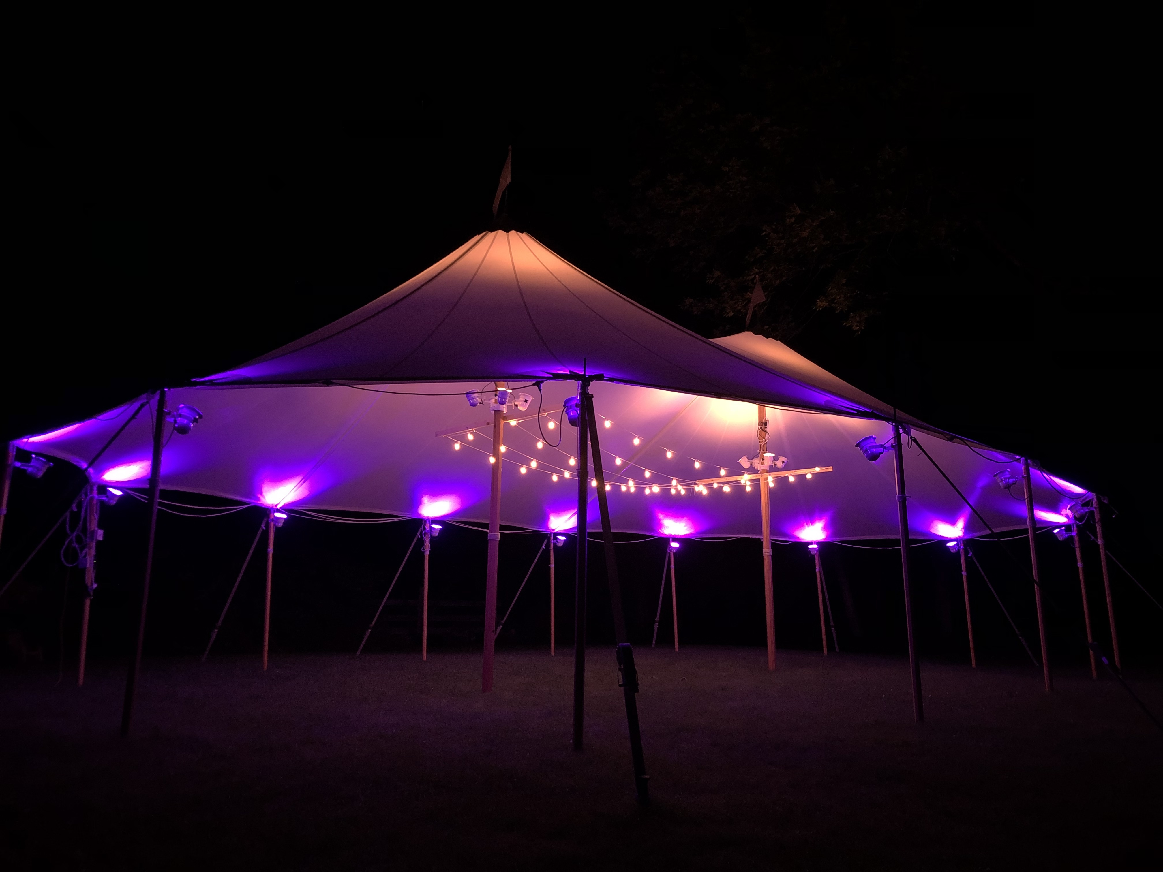 32x50 Tidewater Sailcloth Tent Purple an